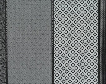 Low Volume Lollies by Jen Kingwell Designs for Moda - Silver - Charcoal - Grey - 18200 14 - 1/2 Yard Cotton Quilt Fabric
