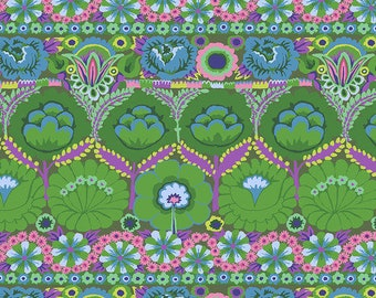 Kaffe Fassett Collective - August 2021 - Embroidered Flower - Green - PWGP185.GREEN - Select a Size - 100% Cotton Quilt Fabric