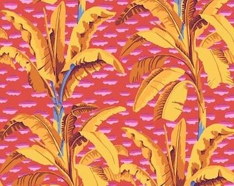 Kaffe Fassett Collective - Banana Tree - Red - PWGP179 - FQ BTHY Yard  -100% Cotton Quilt Fabric 921