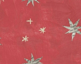 Wonder by Carrie Bloomston for Windham Fabrics - Stars - Watermelon - 50517-6 - Cotton Quilt Fabric - Choose your Size 8-21