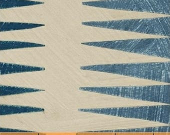 Dreamer by Carrie Bloomston for Windham Fabrics - Pueblo Stripe - Teal Blue - FQ BTHY Yard Cotton Quilt Fabric 8-21
