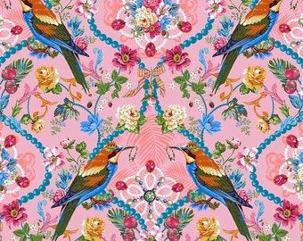 Jardin de la Reine by Odile Bailloeul - The Queen's Jewels - Rose Select a Size - FreeSpirit Cotton Quilt Fabric K