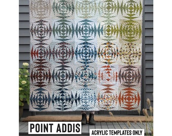 Point Addis Acrylic Template featured in Quilt Recipes Pattern Book by Jen Kingwell Designs