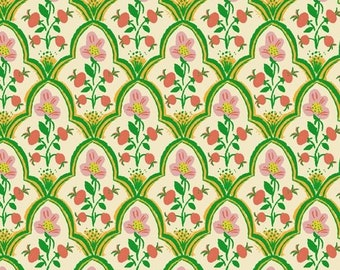 Malibu by Heather Ross for Windham - Wood Block - Mustard - 52151-18 - Cotton Quilt Fabric - FQ BTHY Yard 921