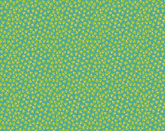 Aquatic - MagiCountry by Odile Bailloeul for Free Spirit - Turquoise PWOB059 - FQ Fat Quarter BTHY Yard - Cotton Quilt Fabric 1021