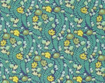 Eden by Tula Pink for Free Spirit - Wildflower - Sapphire - 1/2 Yard Cotton Quilt Fabric 8-21