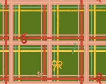 Sugarplum by Heather Ross for Windham Fabrics - Plaid - Green - 50168-5 - 1/2 Yard Cotton Quilt Fabric 921