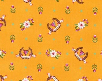 Slow & Steady by Tula Pink for Free Spirit - Winner's Circle - Orange Crush - FQ - Fat Quarter - Cotton Quilt Fabric 8-21