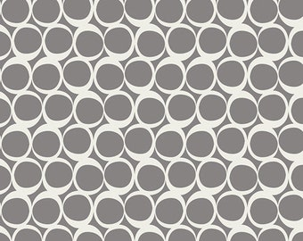 Round Elements by Studio for Art Gallery Fabrics - Pepper Smoke - ROE-309 - Cotton Quilt Fabric FQ BTHY Yard 921