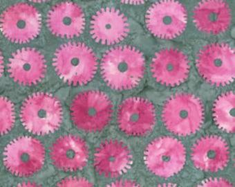 Batik by Kaffe Fassett Artisan - Saw Circles - Pink - Cotton Quilt Fabric - FQ Fat Quarter 1021