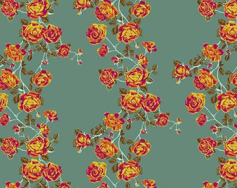 Love Always by Anna Maria Horner for Free Spirit - Social Climber - Teal - PWAH117 - Select a Size - Cotton Quilt Fabric