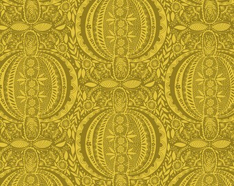 Love Always by Anna Maria Horner for Free Spirit - Propagate - Golden - PWAM006 - Select a Size - Cotton Quilt Fabric