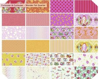 OVERSTOCK Sale:  Curiouser & Curiouser Wonder FQ Fat Quarter Bundle by Tula Pink 24 prints - Cotton Quilt Fabric