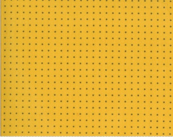 SALE Quotation by Zen Chic - Period Mustard 1736 18  Select a Size - FQ, half or full yard- Moda Cotton Quilt Fabric K