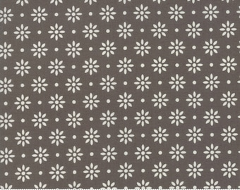 Summer Sweet by Sherri & Chelsi for Moda - Daisy Dot - Charcoal Brown - Select a Size - Cotton Quilt Fabric