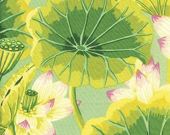Kaffe Fassett - GP93 - Lake Blossoms Green Lilac - 1/2 yard cotton quilt fabric