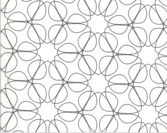SALE Quotation by Zen Chic - Outline Cream Graphite 1733 12 Select a Size - FQ, half or full yard- Moda Cotton Quilt Fabric K