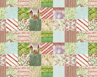 Holly Jolly by Cori Dantini for Free Spirit - Jolly Patches - PWCD010.XMULTI - 100% Cotton Quilt Fabric - Choose your Size K