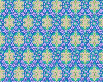 Judith's Fancy by Jennifer Paganelli for Free Spirit - Eileen - Royal - 1/2 yard cotton quilt fabric