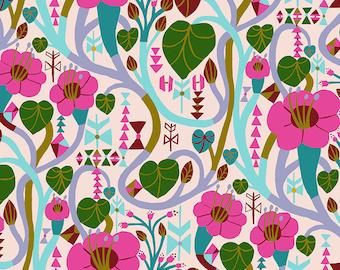 Homeward Monika Forsberg Anna Maria's Conservatory Free Spirit - Meander Lipstick MF013 - Cotton Quilt Fabric - Fat Quarter BTHY Yard 9-21