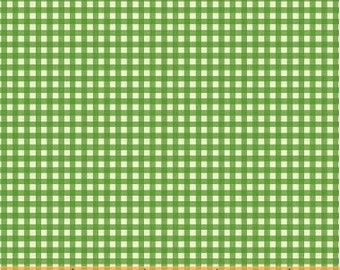 OOP Trixie by Heather Ross Windham Fabrics - 50900-6 - Gingham - Kelly Green - Cotton Quilt Fabric - FQ BTHY Yard 921