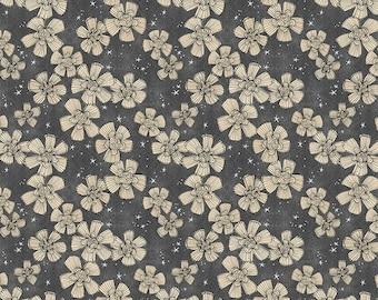 Spirit of Halloween by Cori Dantini Free Spirit - Nocturnal Bloom - CD004 Charcoal - 100% Cotton Quilt Fabric - FQ BTHY Yard 921
