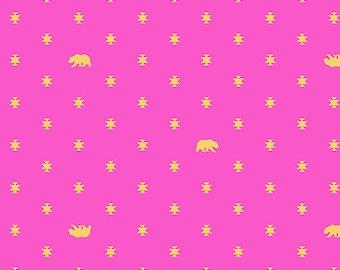 Spirit Animal by Tula Pink for Free Spirit - Bear Hug - Star Light - Cotton Quilt Fabric 8-21+B