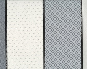 Low Volume Lollies by Jen Kingwell Designs for Moda - Silver - Grey - 18200 13 - 1/2 Yard Cotton Quilt Fabric
