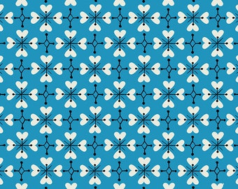SALE Smol by Kimberly Kight of Ruby Star Society for Moda - Coeur De Fleur - Bright Blue - RS3018 16 - Select a Size - Cotton Quilt Fabric K