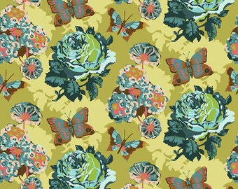 Love Always by Anna Maria Horner for Free Spirit - Clippings - Lichen - PWAH038 - Select a Size - Cotton Quilt Fabric