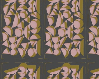Vestige by Bookhou for Anna Maria Horner's Conservatory for Free Spirit - Shapes - Rose - 1/2 yard Cotton Quilt Fabric