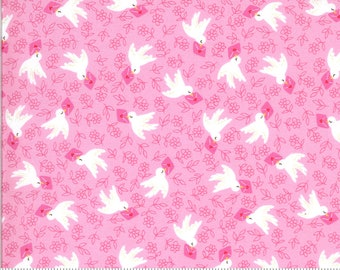 Be Mine by Stacy Iest Hsu for Moda - Airmail - Sweet Nothings - Pink - 20713 12 - 100% Cotton Quilt Fabric - Choose your Size K