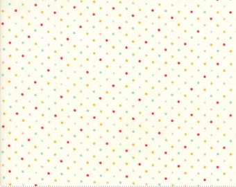 Essential Dots Essential Yours by Moda Basics - Natural - Multicolored Dots - BTHY 1/2 Yard Cotton Quilt Fabric - 8654 134