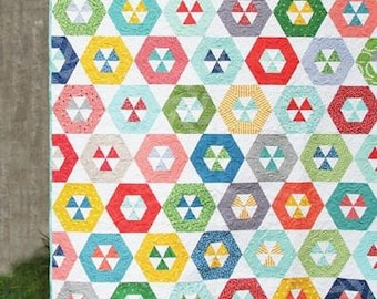 Hoopla Quilt Pattern by Cluck Cluck Sew - Print Pattern