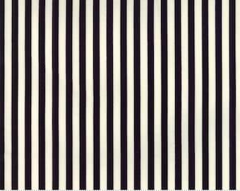 Essentially Yours by Moda Basics - Stripe - Black - White - 8652 79 - 100% Cotton Quilt Fabric - FQ BTHY Yard - Binding Option