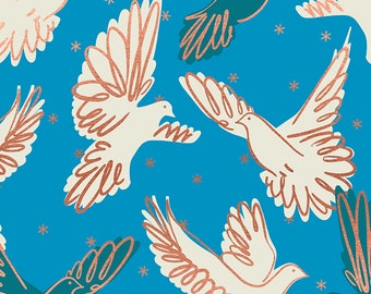 SALE Rise by Melody Miller of Ruby Star Society for Moda - Fly - Bright Blue - RS0013 14M - Select a Size - Cotton Quilt Fabric K
