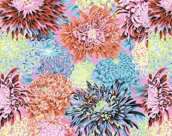 Philip Jacobs - Japanese Chrysanthemum - PJ041 Contrast - FQ Fat Quarter BTHY Yard Cotton Quilt Fabric 1021
