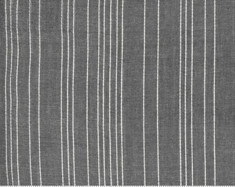 Low Volume Stripe Silver Grey Woven 18201 20 by Jen Kingwell for Moda - FQ Fat Quarter BTHY Yard - Cotton Quilt Fabric