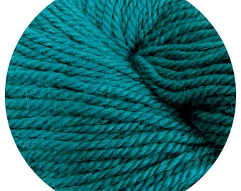 teal weepaca by Big Bad Wool - light worsted yarn - 50% fine washable merino and baby alpaca - 95 yards