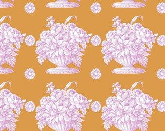 OOP Kaffe Fassett Collective Fall 2018 by Kaffe Fassett for Free Spirit - Stone Flower - Orange - Cotton Quilt Fabric - Choose your Size K