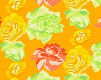 Fall 2017 by Kaffe Fassett for Free Spirit - Rose Clouds - Gold - 1/2 Yard Cotton Quilt Fabric 2020