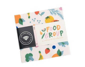 """Food Group by Ruby Star Society  5"""" Charm Pack for Moda Fabrics"""