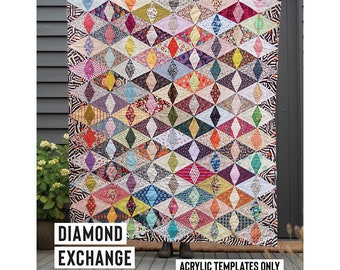 Diamond Exchange Acrylic Template featured in Quilt Recipes Pattern Book by Jen Kingwell Designs