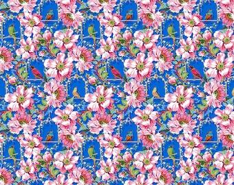 Jardin de la Reine Odile Bailloeul- The Queen's Musicians Small- Royal - FreeSpirit Cotton Quilt Fabric K