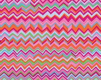 Kaffe Fassett Collective - Zig Zag - Pink - BM043 - FQ Fat Quarter BTHY Yard cotton quilt fabric K