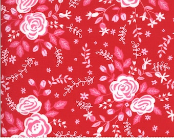Be Mine by Stacy Iest Hsu for Moda - Roses For My Love - Kisses - Red - 20711 14 - 100% Cotton Quilt Fabric - Choose your Size K