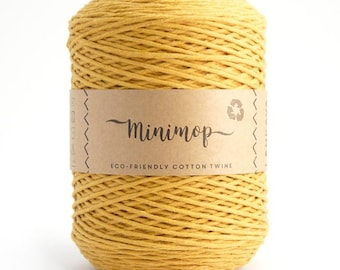 Minimop - Yellow  80/20 Recycled Cotton & Polyester Twisted Cord Twine Yarn by Lankava