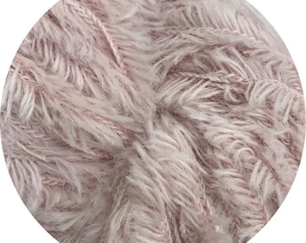 pink noses baby yeti by Big Bad Wool - chunky yarn - baby alpaca and fine merino - 109 yards