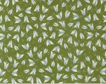 Songbook by Fancy That Design House  - Prairies Praise Green Buds - 45525 18 - Cotton Quilt Fabric - Fat Quarter fq BTHY By the half yard