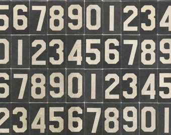 Monocrome by Tim Holtz Eclectic Elements for Free Spirit - Numbers - Black - PWTH063.BLACK - Select a Size - Cotton Quilt Fabric